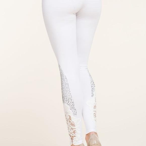 new VOCAL EMBELLISHED LEGGINGS slimming BLACK SM-3X CRYSTAL SLENDERIZING pants